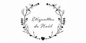 Noel Noir Et Blanc : etiquettes noires et blanches de no l imprimer vie de miettes ~ Melissatoandfro.com Idées de Décoration
