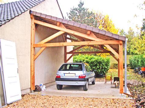 abri de voiture en bois preau en bois leroy merlin altoservices