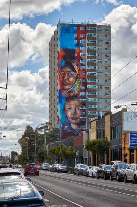 melbourne mural   tallest  southern hemisphere