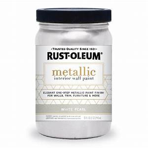 rust oleum 1 qt white pearl metallic paint 2 pack With home depot metallic furniture paint
