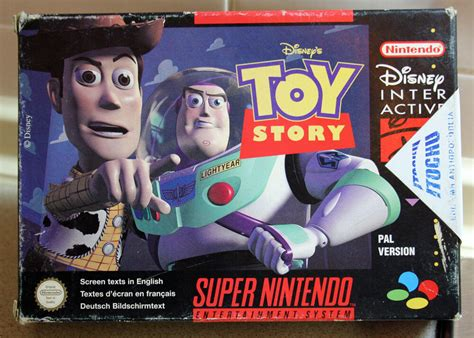 Rare Vintage 1995 Super Nintendo Toy Story Game Snes Pal