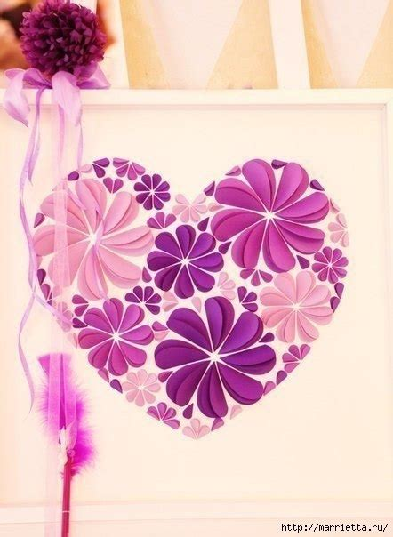 The most common paper wall hanging material is paper & cardboard. How to Make Easy Paper Heart Flower Wall Art