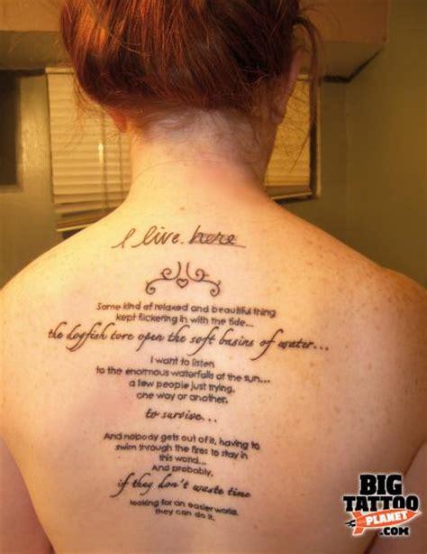 Back Shoulder Blade Tattoo Pain