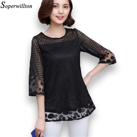 Soperwillton Women's Summer Blouses Chiffon Women Tops And Blouses 2017 New Fashion Women