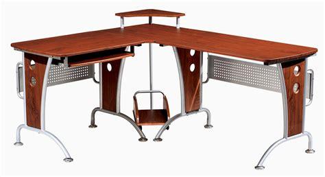 techni mobili space saver mahagonay computer l desk for home or business