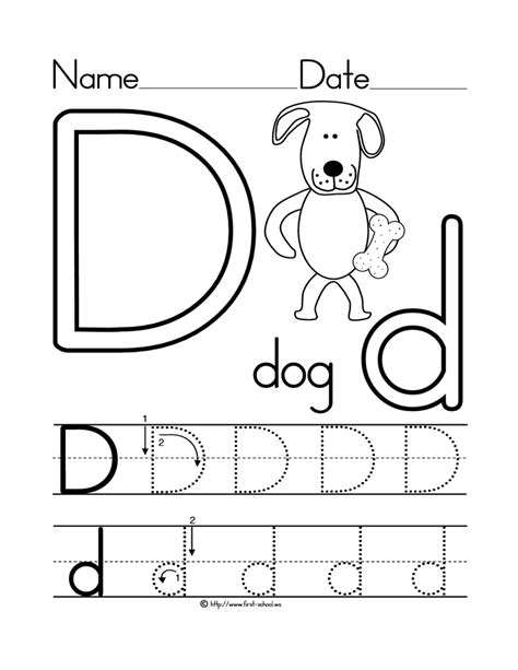 learning the letter d