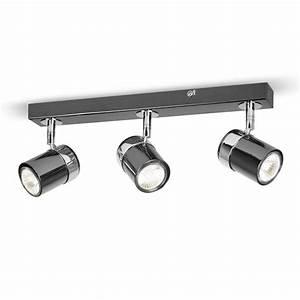 Modern black silver chrome way spot kitchen ceiling