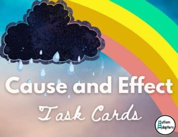 interactive   effect task cards   autism