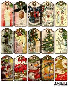 8 best images of vintage printable christmas name tags vintage christmas gift tags printable