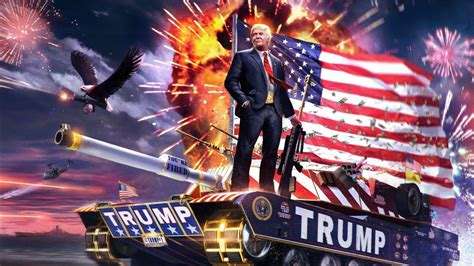 trump flag hd fireworks riffle donald holding battle celebrities tank 1080 1366