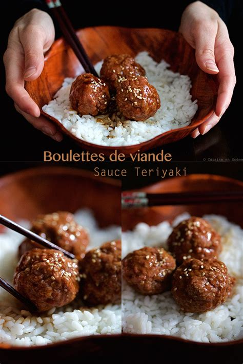 boulettes de viande sauce teriyaki cuisine en sc 232 ne le cuisine de barth 233 l 233 my