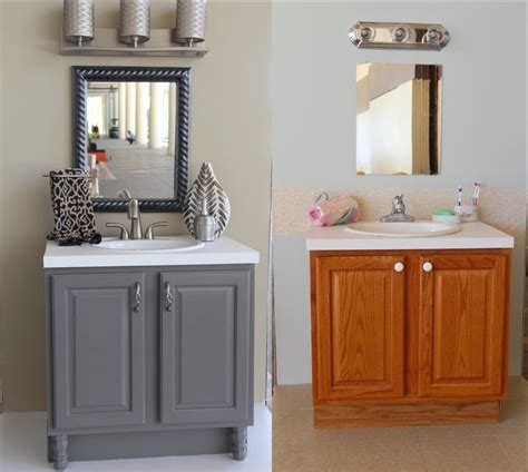 best paint for bathroom cabinets painting bathroom cabinets