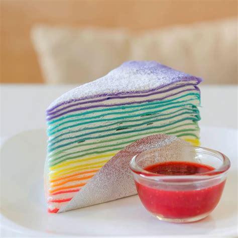 cuisine coloree recette gâteau de crêpes rainbow