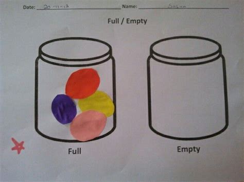 Fullempty Worksheet  Preschool Crafts & Activities  Pinterest  Opposites Preschool
