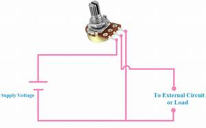 Connection Of Potentiometer For Voltage Dividing