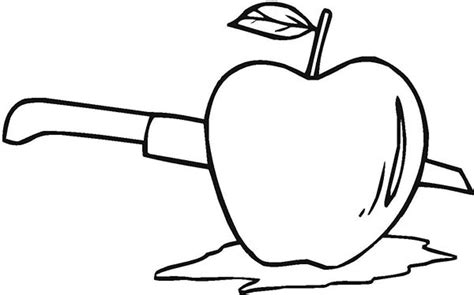 cut  apple coloring page coloring sky