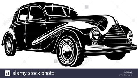 Retro Car Silhouette Stock Photo, Royalty Free Image