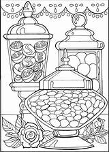Dessert Coloring sketch template