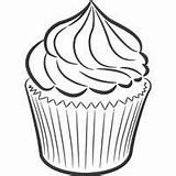 Coloring Cupcake Frosting Pages Sheets Colouring Sweet Candy Cupcakes Birthday Cakes Cup Surfnetkids Sweets Ice Station sketch template