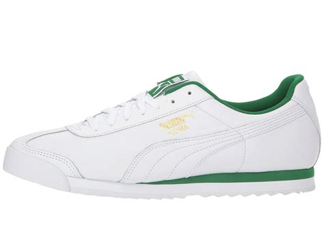 shoes puma roma classic casual amazon lace leather zappos mens
