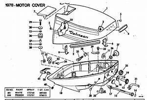 Johnson motor cover parts for 1978 99hp 10el78m outboard for Diagram of 1978 70el78c johnson outboard motor cover diagram and parts