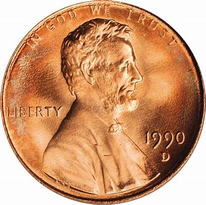 1990 Value Cent Lincoln Coins Memorial Cents