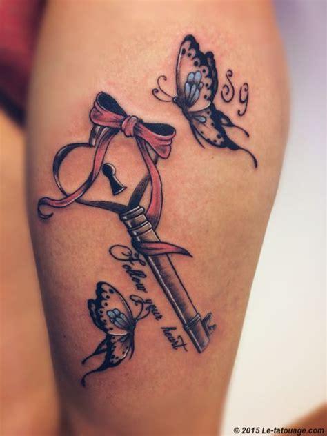 tatouages tatouages cle  papillons tatouage tatouage