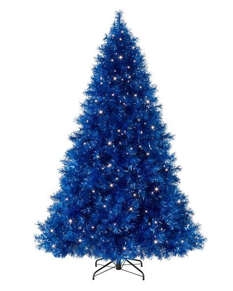 blue and christmas tree sassy sapphire blue tinsel christmas tree treetopia