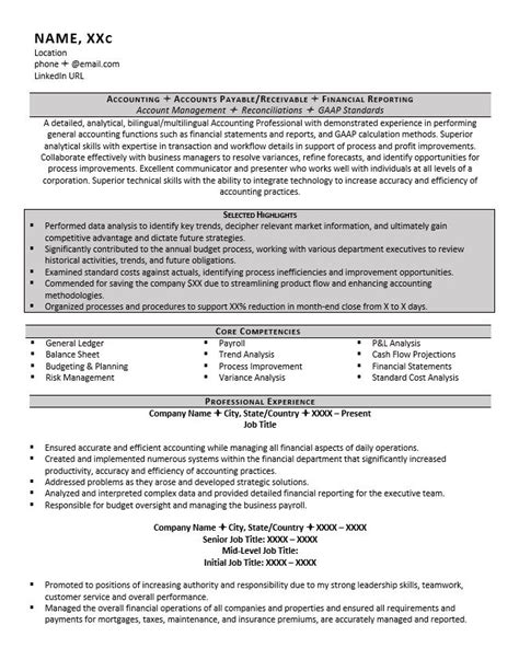 accountant resume exle and 5 great tips to writing one