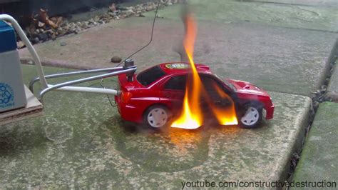 Rc Car Battery Test Ends In Flames Car Catches Fail