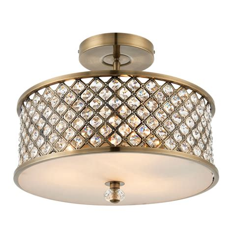endon lighting hudson 3 light semi flush ceiling fitting