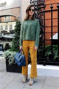 Orange Vert Quel Couleur : bien assaisonner son pantalon moutarde marie france magazine f minin ~ Dallasstarsshop.com Idées de Décoration
