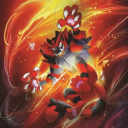 Incineroar Pokemon Fan Artstation Artwork