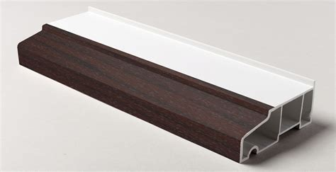 External Window Cill by 85mm X 5m Stub Window Cill Rosewood On White External