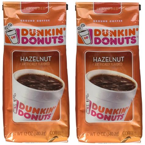 Dunkin' donuts swirls are made with sweetened condensed milk and flavored with cocoa, vanilla and other flavors to achieve the variety of flavors. Dunkin' Donuts Hazelnut Ground Coffee, 12 Ounce (Pack Of 2) - Walmart.com - Walmart.com
