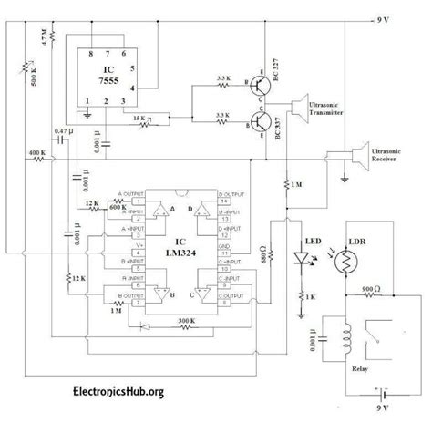 Automatic Doorbell With Object Detection Circuit Eeweb