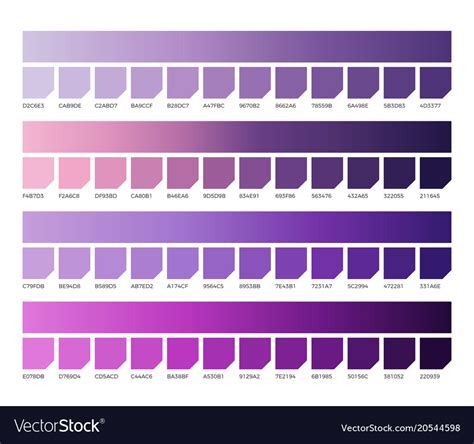 ultra violet pantone color swatches colors vector image