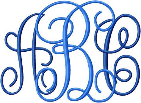jumbo interlocking monogram font  center letters