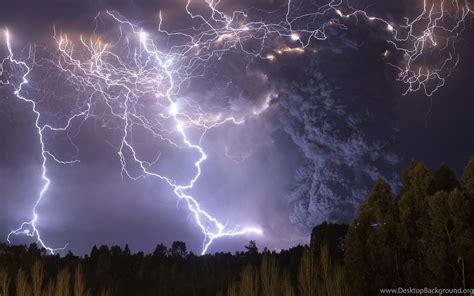 lightning thunder volcano wallpapers desktop background