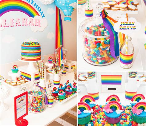 kara 39 s party ideas rainbow themed birthday party rainbow themed 1st birthday party with lots of ideas