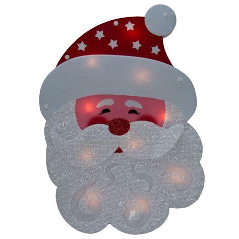 lighted holiday santa or snowman winter wall window hanger