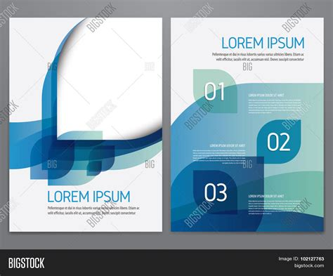 Modern Blue Brochure Design Vector Photo Bigstock Brochure Annual Report Flyer Vector Photo Bigstock
