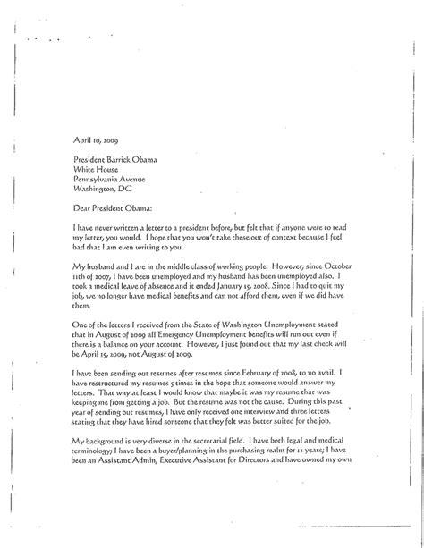 written  letter   president