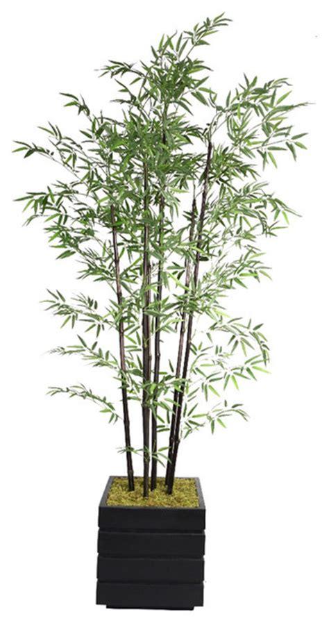 78 inch black bamboo tree in fiberstone