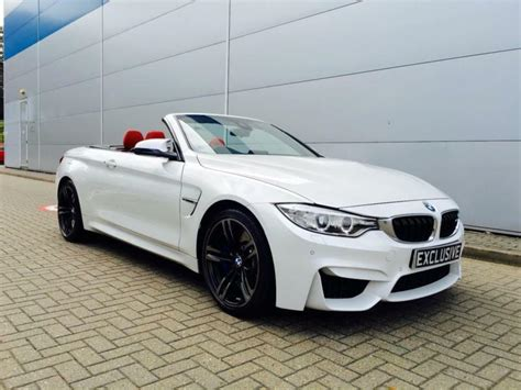2014 64 Reg Bmw M4 3.0 Dct Convertible + White + Red