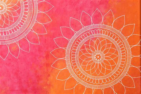 sunset mandalas lavender henna henna home decor