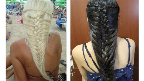 Mermaid French Braid Hairstyle For Medium Long Hair