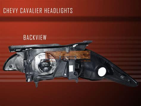 Chevy Cavalier Black Crystal Headlights Corner