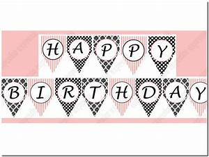 free printable happy birthday banner letters pictures With letters for birthday banner