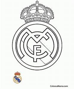Colorear Club de Ftbol Real Madrid (Escudos equipos de Ftbol), dibujo para colorear gratis